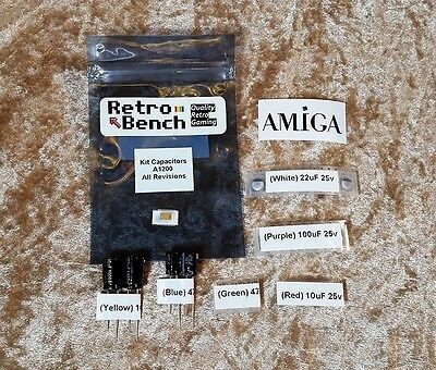 AMIGA 1200 A1200 COMMODORE Recapping Capacitor Kit - HIGH Quality PANASONIC CAPS