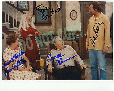"""REPRINT RP 8x10 Signed Autographed Photo Picture:""""All in the Family"""" Color Cast"""