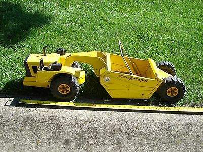 "Mighty Tonka scraper earth mover large 27"" long vintage collectable Bottom Dump"