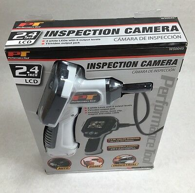 """PT Performance Tool Inspection Color Camera 2.4"""" LCD DIAGNOSTIC Video Handheld"""