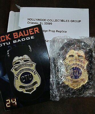 Hollywood Collectibles HCG High Quality 24 Jack Bauer Replica CTU Badge New