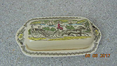 "Royal China ""FAIR OAKS"" Dinnerware Butter Dish"