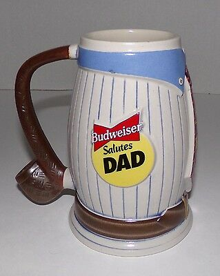 """1996 Budweiser Salutes Dad Beer Stein """" THIS BUD'S FOR YOU """""""
