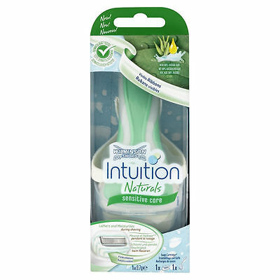 Wilkinson Sword Ladies Intuition Naturals Sensitive Care Razor - Razor + 1 Blade
