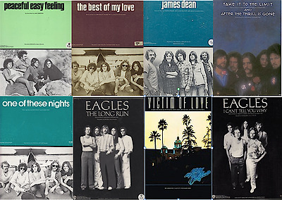 Lot of 8 EAGLES sheet music folios (all NM unless noted)