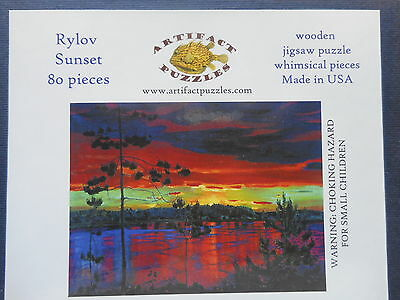 Artifact Wooden Jig Saw Puzzle Sunset by Rylov 80 pieces
