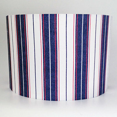 Padstow, Large Striped Fabric Light Shade