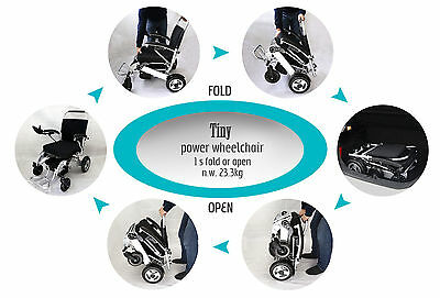 Ideal Tiny 6 Powered Lithium Electric Wheel Chair Instant Folding Portable
