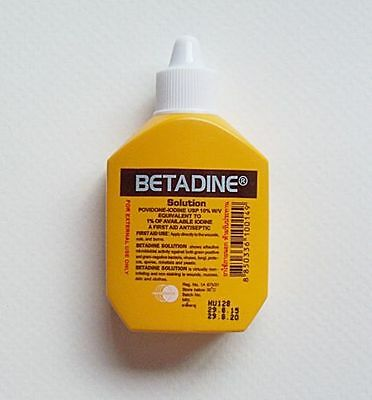 Betadine Antiseptic Povidone Iodine Solution 15 ml for First Aid Kit Cuts Wounds