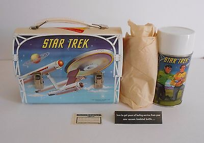 1968 Vintage Star Trek Dome Lunchbox Thermos Mint Unused N.O.S Tags Nicest Ever!