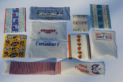 70 Different WAX Candy Gum WRAPPERS 1950's 1960's 1970's SYDNEY - super rare!!!!