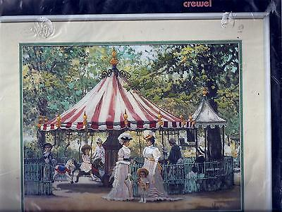 Summer Carousel Crewel Embroidery Kit - Alan Maley- Dimensions Kit 1401