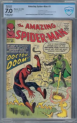 Amazing Spider-Man #5 : Cbcs 7.0 (R) Sa Owtw Pages : Dr. Doom!!