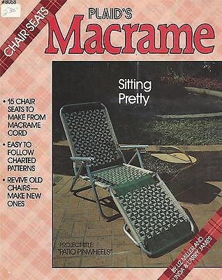 Sitting Pretty Macrame Pattern Booklet Chair Seats, Lawn, Patio Chairs, Stools