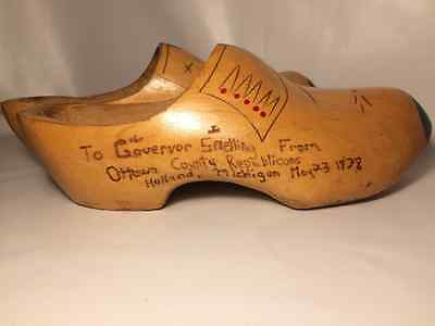 Vintage Decorative Wooden Clogs Republicans Holland Michigan To Vermont Governor