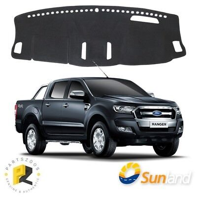Dash Mat Sunland Charcoal for Ford Ranger PX2 2015+ F75H06- W/ Heads Up Display