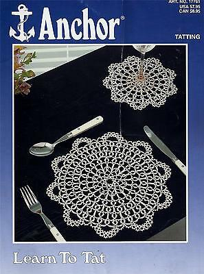Anchor Learn To Tat - Tatting Instruction Booklet - Edgings, Doilies  ++