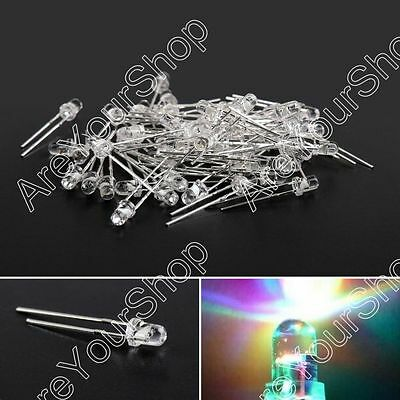 3mm/5mm LED Fast/Slow Flash RGB Water Clear Light Round Top Emitting Diode US
