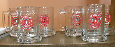 """Set of 6 Alexander Keith's India Pale Ale Beer Glass Steins 5 1/8"""" Nova Scotia"""