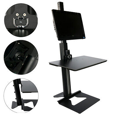 YaeKoo Stand Steady Single Monitor Mount Sit-Stand Desk (H100),Height Adjustable