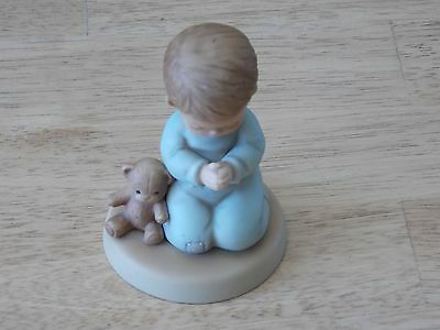 "Enesco 1987 Memories of Yesterday, ""Now I lay me down to sleep"" Figurine"