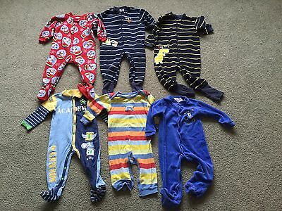 Baby Boy Sleepers Lot of 6 (Size 18 Months)