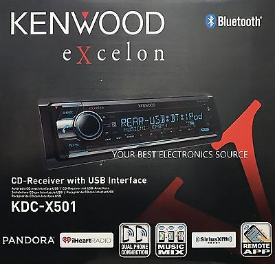 NEW KENWOOD KDC-X501 CD Receiver with Built in Bluetooth KDCX501