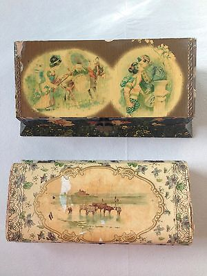 ** Antique Vanity Boxes * AS-IS * One Hand Mirror **