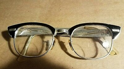 Mens Vintage Mid Century Universal Optical Co Cat Eye Glasses1/10 12k 48-22