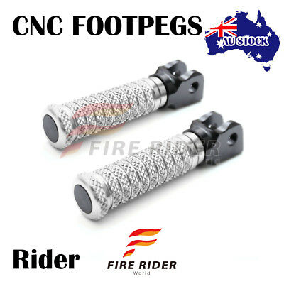 For Suzuki TL1000S 97-01 97 98 99 00 01 FRW CNC Silver Front Footpegs