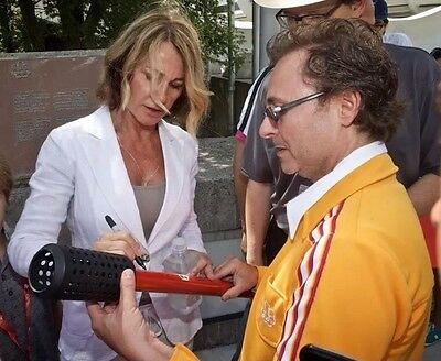 Olympic torch 1976 Nadia Comaneci signed