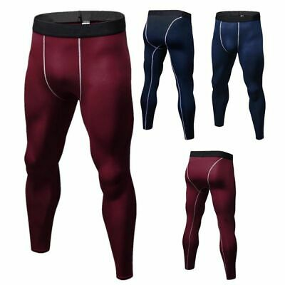 AU Mens Warm Thermal Base layer Long Johns Pants Winter Thick Underwear Leggings