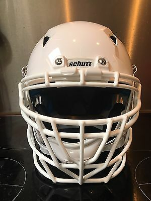 Schutt Vengeance Z10 Adult XL All White Helmet And Z10 ROPO DW PRO Facecage