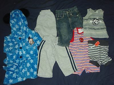 baby boys size 00 bulk clothes lot inc mickey mouse dressing gown & more