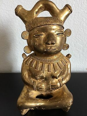 COLOMBIAN GOLD COPPER TUMBAGA - Rare - Squatting Woman