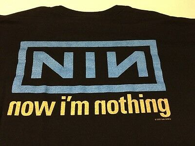 Vtg Nin Nine Inch Nails Now Im Nothing Concert Tour Promo Shirt Xl