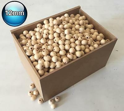 75 X 12mm Natural Wood Bead Unpainted Unfinished round Wooden Beads Spacer Ball