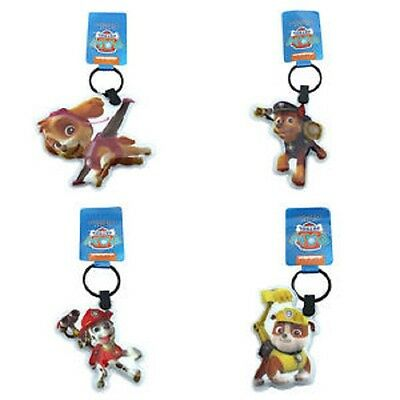 Paw Patrol set of 4 Light-Up torch Keyrings keychains