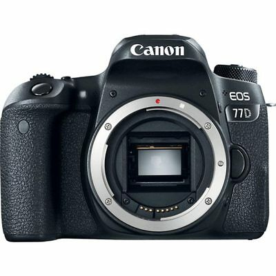 Canon EOS 77D DSLR Camera Black Body Only (Multi Language) Stock in EU Auténtic