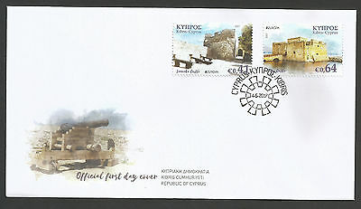 Cyprus Stamps 2017 Europa Castles Official First Day Cover Perfect