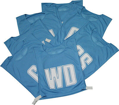 Netball Team Sportswear Practice Training Breathable Bibs One Size Sky Set Of 7