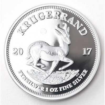 2017 PROOF KRUGERRAND 1oz SILVER COIN 50th Anniversary Privy Mark South Africa