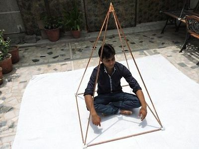 "3 ft Nubian Pyramid for Healing Meditation+1/2"" copper tubes+Aluminum connectors"