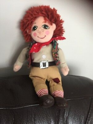 "ROSIE & JIM Jim BEANIE PLUSH SOFT TOY RAG DOLL  10"" RAGDOLL 1999 cuddly and c5"