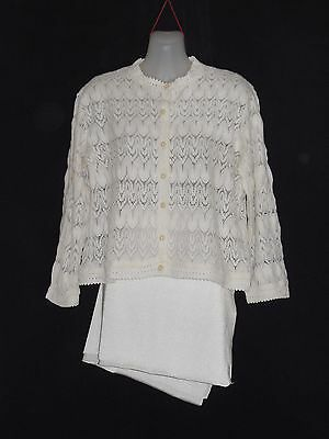 1950's/60's Vintage Lacy Knit Light Weight Cardigan.
