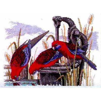 Country Threads Cross Stitch Kit CRIMSON ROSELLAS Counted X Stitch New