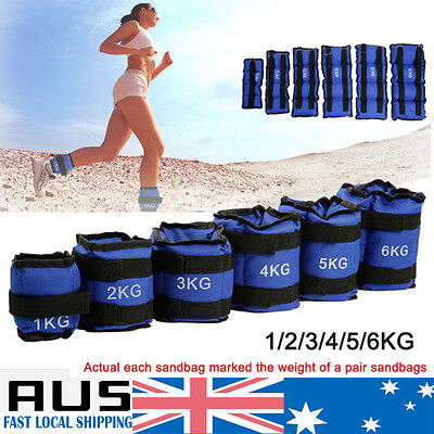 1-5kg Adjustable Ankle Wrist Weights Strap GYM Equipment Yoga Fitness Training A