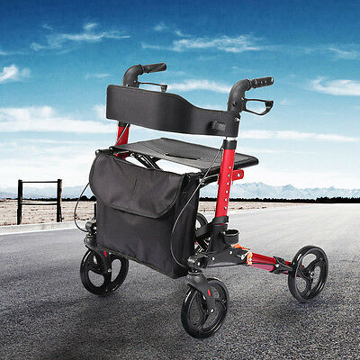 Foldable Rollator Walking Frame Outdoor Indoor Mobility Walker Aid AU Stock
