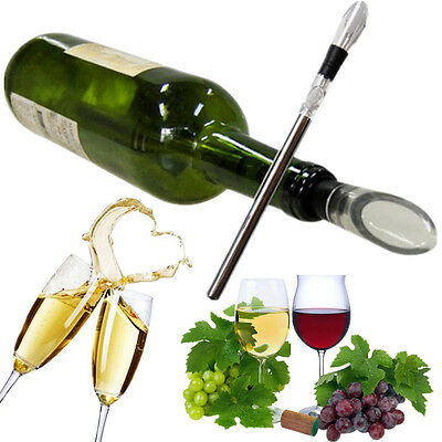 Stainless Steel Red Wine Chiller Chilling Rod Stick Cooler Pouring Spout Aerator