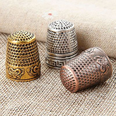 2pcs Sewing Finger Protector Thimbles Metal Finger Protector Shiled Tailor Use